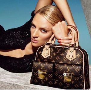 Louis Vuitton Manhattan Monogram PM Brown Bag